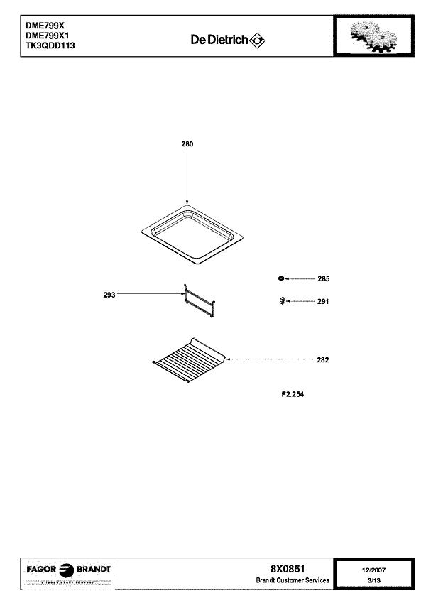 DME799X / DME799X1 - Vue éclatée 1