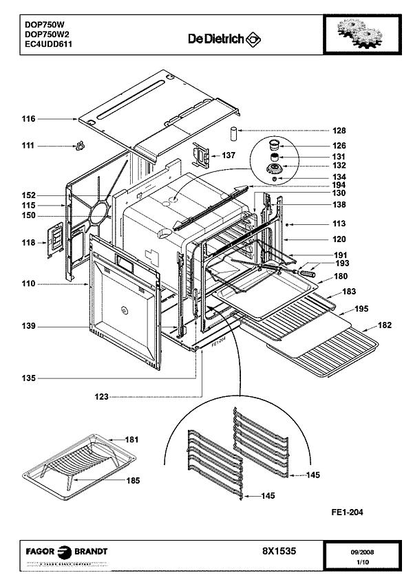 DOP750W / DOP750W2 - Vue éclatée 3