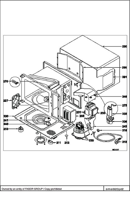 SME920X / SME920XF1 - Vue éclatée 2