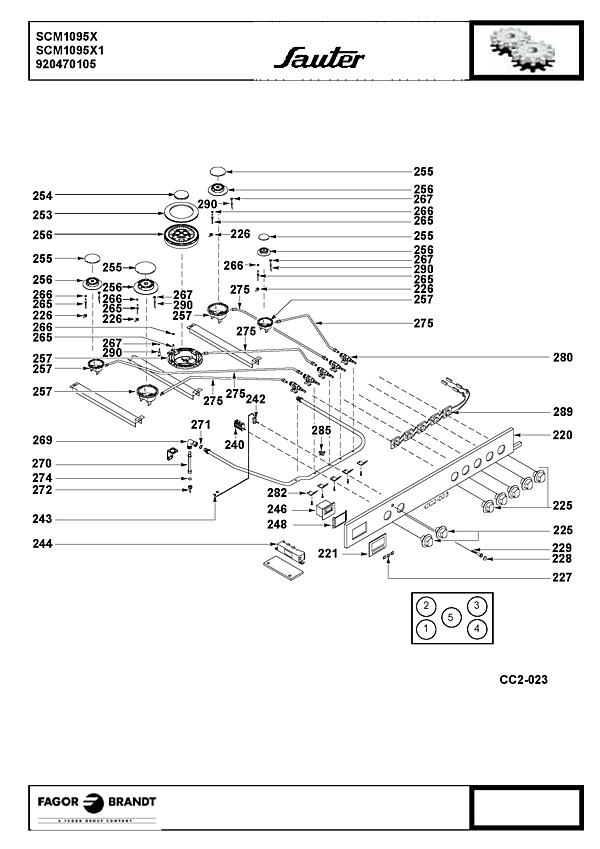 SCM1095X / SCM1095X1 - Vue éclatée 5