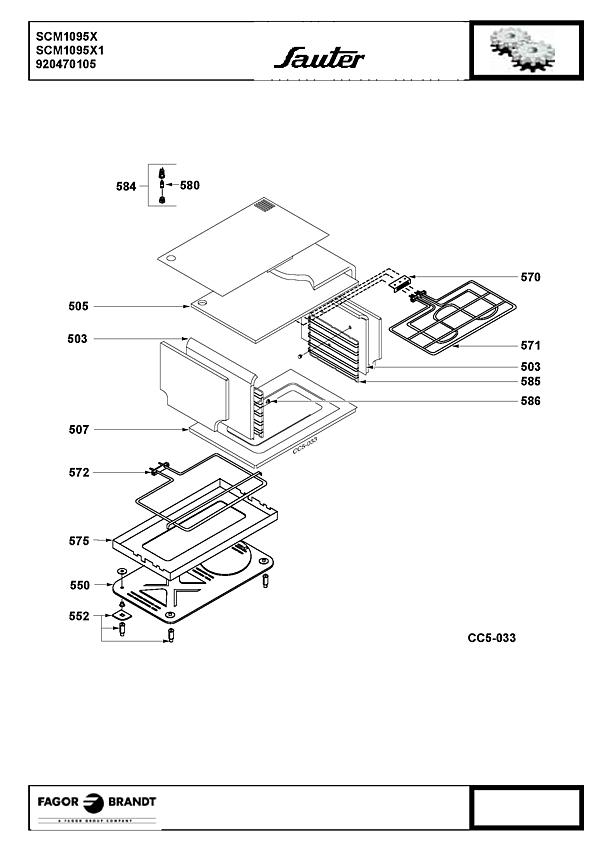 SCM1095X / SCM1095X1 - Vue éclatée 1