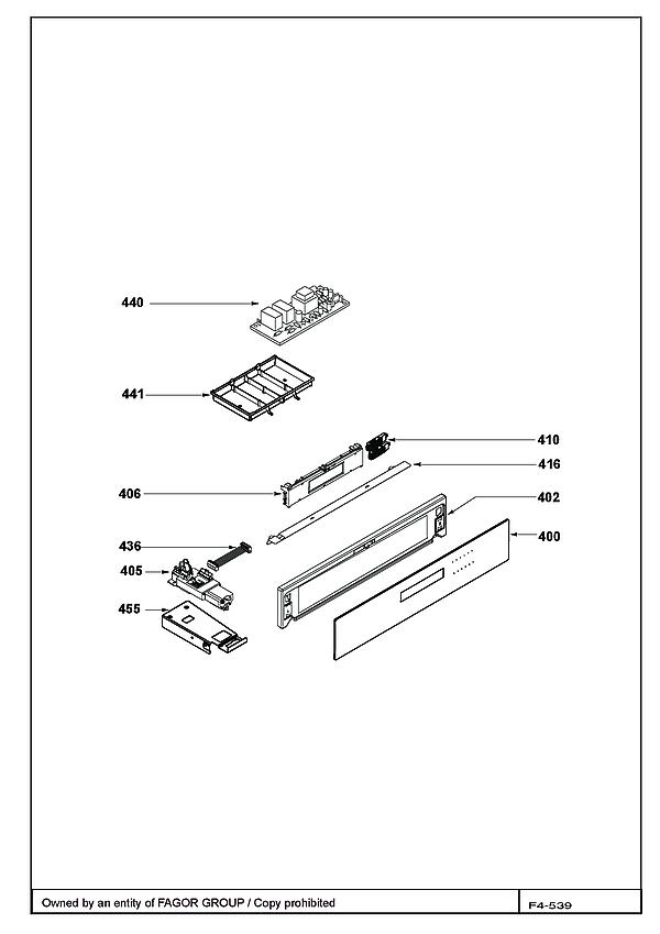 DOP798X / DOP798X1 - Vue éclatée 3
