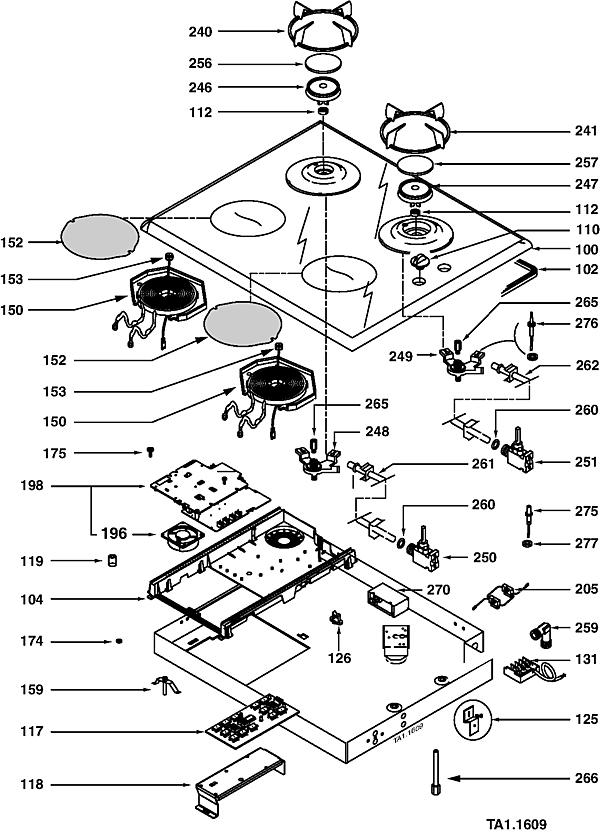 STI963B / STI963B2 - Vue éclatée 1